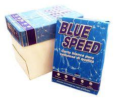 CARTA PER FOTOCOPIE BLUE SPEED Carta per fotocopie, risma da 500 fogli bianchi. La carta Blue Speed è realizzata con carta di pura cellulosa. Ideali per fotocopiatori, stampanti veloci, stampanti laser, ink-jet e fax a carta comune Formato A4: 21 x 29,7 cm