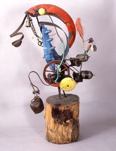 Jean Tinguely (Fribourg 1925 - 1991 Bern), Balouba No. Jean Tinguely, Painting Collage, Painting For Kids, Abstract Sculpture, Sculpture Art, Nouveau Realisme, Museum Ludwig, Sculptures Céramiques, Mobile Art
