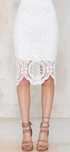 Lioness Gemini Lace Skirt