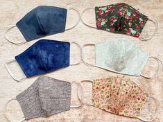 Face Mask - Filter Pocket - 100% Cotton Quilting Fabric High Quality Multiple Colors-Sizes - Reusable -Wire Nose