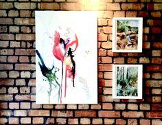 Emily Krainc and Maja Beattie artworks in the Square Kitchen.