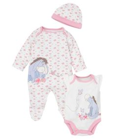 Eeyore Set - 3 Piece Set - co-ordinated sets - Mothercare Toddler Themes, Toddler Outfits, Kids Outfits, Disney Baby Clothes Girl, Cute Baby Clothes, Babies Clothes, Babies Stuff, Cute Babies, Baby Kids
