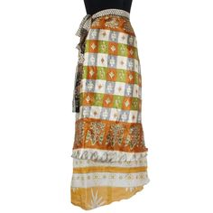 Clothing, Shoes & Accessories Reversible Magic Wrap Around Printed 100% Pure Silk Skirt Plus Size 36 Inch Long Beautiful And Charming Women's Clothing