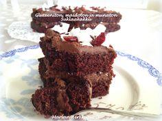 koristeelliset-kakut » Gluteeniton, maidoton ja munaton suklaakakku Easy Chocolate Chip Cookies, Vegan Cake, Cake Cookies, Bakery, Paleo, Gluten Free, Cooking, Sweet, Desserts