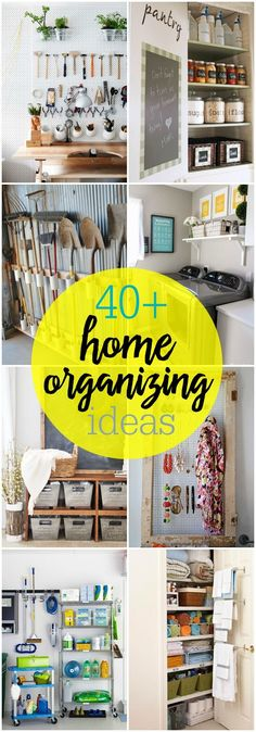 Great ideas to organize your whole home!
