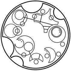 """We are all stories in the end"" written in Gallifreyan."