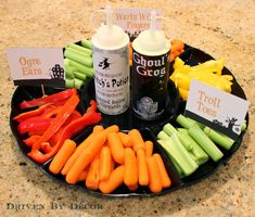 "Halloween Vegetable Tray: A Healthy School ""Treat"" - Driven by Decor"