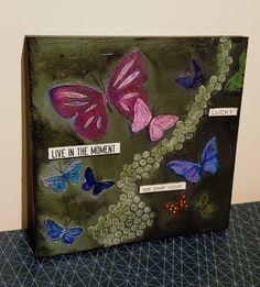 #mixedmedia #art #homedecor #woodpanel #etsy #butterfly #painting #vintage #mixedmedia #mydaisybox #homedecor