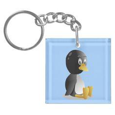 Penguin cartoon Key Chain Acrylic Key Chain