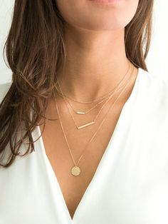 Layered and Long Necklaces / Sterling Silver, Rose Gold, Gold / Silver or Delicate Gold Necklaces, Personalized Options, Diamond Crown, Gold Diamond Earrings, Diamond Heart, Jewelry Gifts, Gold Jewelry, Gold Necklaces, Layering Necklaces, Diamond Necklaces, Hippie Jewelry