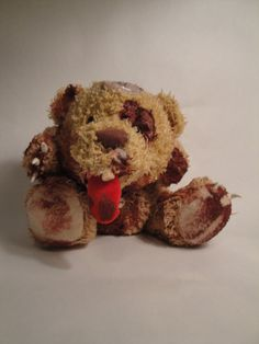 Zombie Teddy Bear  Head in My Hands Bearly Zombie by TheDarkerMoon, $60.00