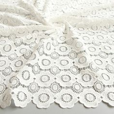 White Lace Fabric White Rayon Lace Lace circle Embroidery