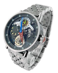 Alain Silberstein Tourbillon Volant Steel Enamel Skeleton Watch in Jewelry & Watches, Watches, Wristwatches Watch 24, Watch Sale, Alain Silberstein, Tourbillon Watch, Skeleton Watches, Dream Watches, Leather Tooling, Jewelry Watches, Steel