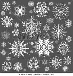 stock vector : Snowflakes Christmas vector icons. Snow flake collection graphic art