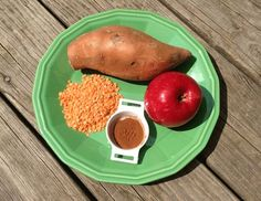 Recipes for 8 to 10 month olds - Lentil, sweet potato and apple salad