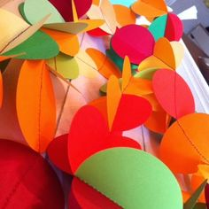 CraftWithMom: Γιρλάντα από χαρτί! Party decoration idea! Easy to make paper garland!