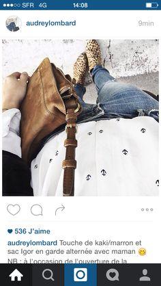 Audrey sur Instagram   Touche de kaki marron et sac Igor en garde alternée  avec 553436ec830