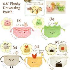 "San-X Sumikko Gurashi ""Things in the Corner"" 6.8"" Plushy Drawstring Pouch"