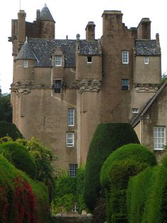 Crathes Castle is a 16th-century castle near Banchory in the Aberdeenshire of Scotland