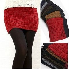thick woolen hand knitting short sweater skirt Free Shipping $8.19
