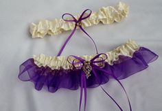 Wedding/Accessories/Purple and ivory by lechoixdelamariee on Etsy