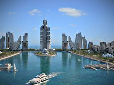 "Skyscraper Bldg the world 1050m Rendering ""Azerbaijan Tower"""