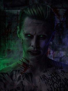 Image of Jared Leto as the Joker (Suicide Squad). Joker Batman, Der Joker, Joker Und Harley Quinn, Joker Art, Black Batman, Batman Arkham, Batman Robin, Joker Frases, Joker Quotes