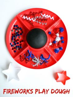 Fireworks Play Dough from Fantastic Fun and Learning Patriotic fireworks play dough for of July. New Year's Eve Activities, Playdough Activities, Toddler Activities, Preschool Ideas, Childcare Activities, Everyday Activities, Toddler Fun, Creative Activities, Toddler Preschool