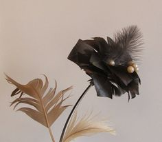 "Real Feather Flower ""Shiny furry and graceful""  by VeriFeather"