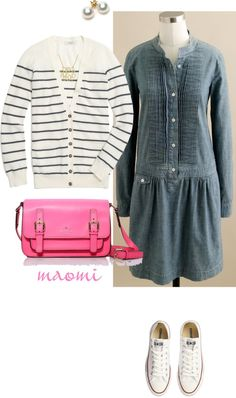 """Stripes and chambray"" by maomi on Polyvore"