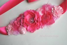 Pink Maternity Sash-Maternity Belt-Bridal Sash