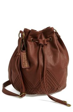 Kendall & Kylie Madden Girl Quilted Faux Leather Bucket Bag