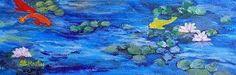 "Annie St Martin Fine Art: Sea Life Art Painting,Fish, KOI ""Koi With Water Li..."