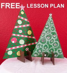 """Free Christmas Stand-up Trees from *Art by Laurie - """"Easy-Art"""" for the Classroom on TeachersNotebook.com -  (3 pages)  - A fun free Christmas craftivity for the elementary art room, classroom, or home school...great holiday display or gift! Fun to see the creative ideas, as the children add their own personal touches."""