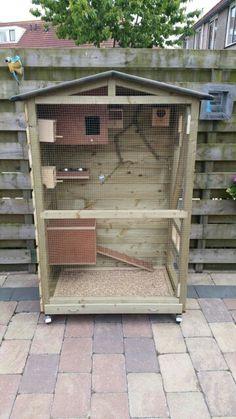 Ideas pet bird cage diy chicken coops for 2019 Big Bird Cage, Bird Cages, Bird Cage Design, Cockatiel Cage, Diy Chicken Coop Plans, Pet Ducks, Chicken Cages, Conure Bird, Bird House Kits