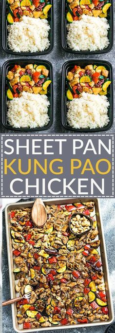 Sheet Pan Kung Pao Chicken is an easy all in one meal with all the flavors of the popular Chinese restaurant takeout dish. Best of all, it's perfect for busy weeknights and simple to customize with paleo friendly options.