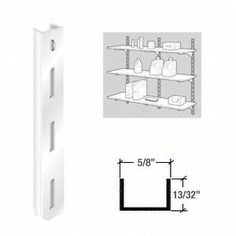 "C.R. LAURENCE 3328536 CRL KV White 80 Series 36"" Heavy-Duty Steel Standard by C.R. Laurence. $6.16. High Quality, High Strength Steel Components for Decorative or Utility Uses These American made shelf brackets and standards have been the choice of the glazing, hardware and decorating industries for more than 60 years. KV steel standards and brackets make building shelf units easy. Versatility and flexibility of design, and high quality precision fitted pieces make them perfe..."