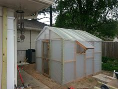 Our DIY greenhouse!