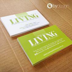 Sydney Hills Living business cards. byDesign Graphics ©