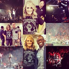Collage of Carrie when she surprised TFK at their concert winter jam!!