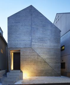 Shirokane House by MDS, Fachada, hormigón