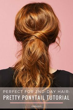 An easy, cute hairstyle that's perfect for waking up late or days you just want to reach for dry shampoo. Get the perfect ponytail with this tutorial.