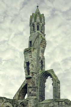 At the Saint Andrews Cathedral in Scotland.