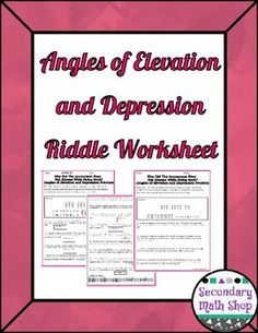Worksheets Quiz Of Angle Of Depression Circle The Correct Answer right triangles trigonometry angles of elevation and depression geometry riddle practice worksheetthis is a 13 question