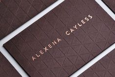 Alexena Cayless letterpress Business Cards - Love the texture