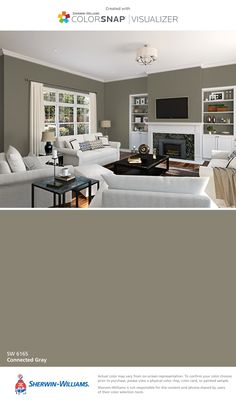 I found this color with ColorSnap® Visualizer for iPhone by Sherwin-Williams: Connected Gray (SW 6165).