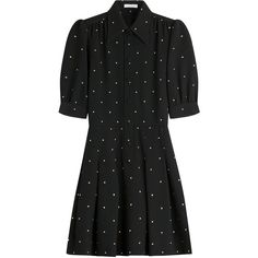 Philosophy di Lorenzo Serafini Embroidered Dress (71.225 RUB) ❤ liked on Polyvore featuring dresses, vestiti, blue, polka dot dress, blue embroidered dress, embroidered dress, embroidery dress and dot dress