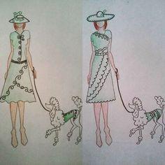 #fashion #moda #mode #style #stylist #dog #dogswear #hat #green #design #designer #fashiondesign #fashiondesigner #illustration #fashionillustration #draw #drawing