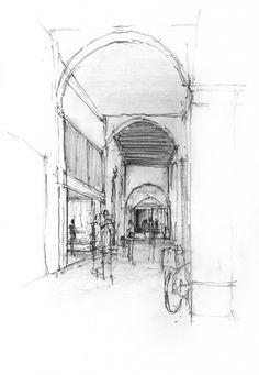 Daniel Mowery / Vicenza Drawing: Loggia