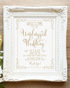 Welcome to our Unplugged Wedding Sign - $1.99